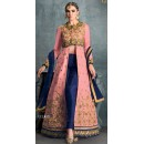 Fancy Pink Banglori Silk Anarkali Suit - 1605
