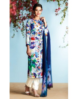 Casual Wear Multi-Colour Palazzo Suit - 6909