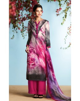 Office Wear Multi-Colour Palazzo Suit - 6910