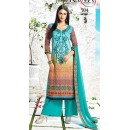 Ethnic Wear Multicolour Satin Palazzo Suit - 504