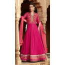 Festival Wear Pink Georgette Embroidered Anarkali Suit  - 1310