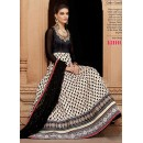 Ethnic Wear Black & Cream Georgette Anarkali Suit  - 1311