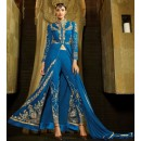 Party Wear Blue Georgette Salwar Suit - 9102