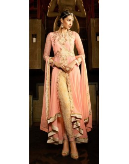 Party Wear Pink Georgette Salwar Suit - 9103
