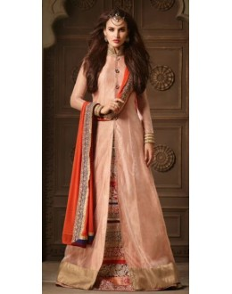 Ethnic Wear Multicolour Pure Silk Anarkali Suit - 3504