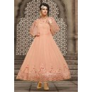 Festival Wear Light Peach Georgette Anarkali Suit - 21002