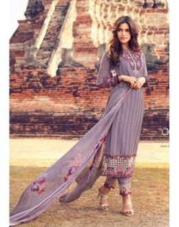 Traditional Wear Multi Colour Premium Cotton Satin Salwar Suit - 305