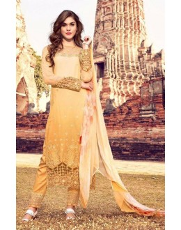 Festival Wear Multi Colour Premium Cotton Satin Salwar Suit - 306