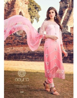 Ethnic Wear Pink Premium Cotton Satin Salwar Suit - 308