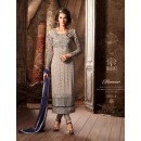Festival Wear Grey Georgette Salwar Suit - 34001-A