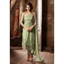 Party Wear Green Net Slit Salwar Suit - 34003-A