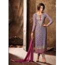Wedding Wear Purple Georgette Salwar Suit - 34004-B