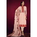 Office Wear Peach Georgette Embroidered Salwar Suit  - 3002
