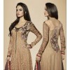 Designer Shaded Net Embroidered Party Wear Brown Anarkali Suit - 6304 ( OFB-646 )