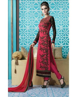 Party Wear Georgette Pink Salwar Kameez - 16001