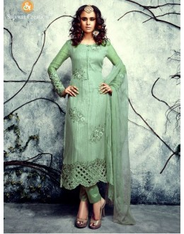 Party Wear Georgette Green Salwar Kameez - 4003-C