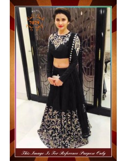Bollywood Replica - Designer Party Wear Georgette Black Lehenga Choli - WA0071 ( OFB-7079 )