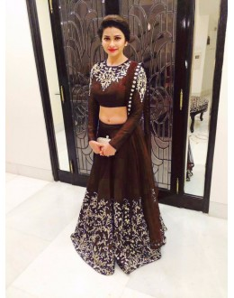 Bollywood Replica - Designer Party Wear Georgette Brown Lehenga Choli - WA0074 ( OFB-7079 )