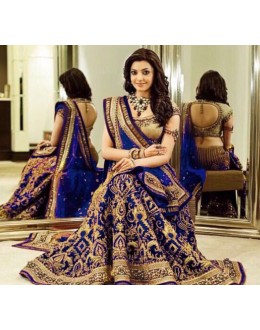 Bollywood Replica - Kajal Aggarwal In Royal Blue Lehenga Choli - DJ-47 C