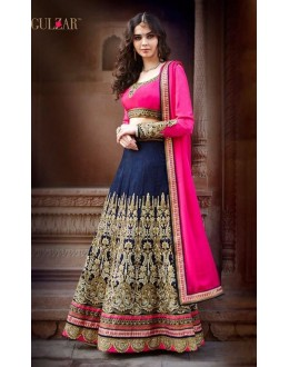 Wedding Wear Banglori Silk Blue Lehenga Choli - L-1