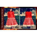 Bollywood Replica - Designer Red Banglori Silk Anarkali Suit - 9057-B