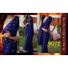 Bollywood Replica - Designer Blue Mirror Work Saree - 9072
