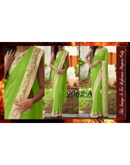 Bollywood Replica - Designer Green Party Wear Saree - 9082-A