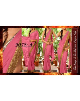 Bollywood Replica - Party Wear Pink Saree - 9078-A