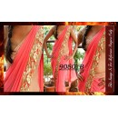 Bollywood Replica - Party Wear Light Pink Saree - 9080-B