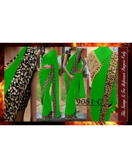 Bollywood Replica - Party Wear Zari Work Green Saree - 9081-C