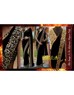 Bollywood Replica - Party Wear Zari Work Black - 9081-A