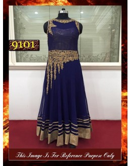 Bollywood Replica - Wedding Wear Navy Blue Anarkali Suit - 9101