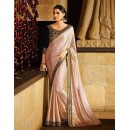 Party Wear Shimmer Georgette Beige Saree - 364