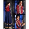 Designer Blue Semi Georgette Embroidered Anarkali Salwar Kameez - 4006 ( OFB- Hamim )