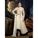 Semi Georgette Cream Anarkali Suit - 24003