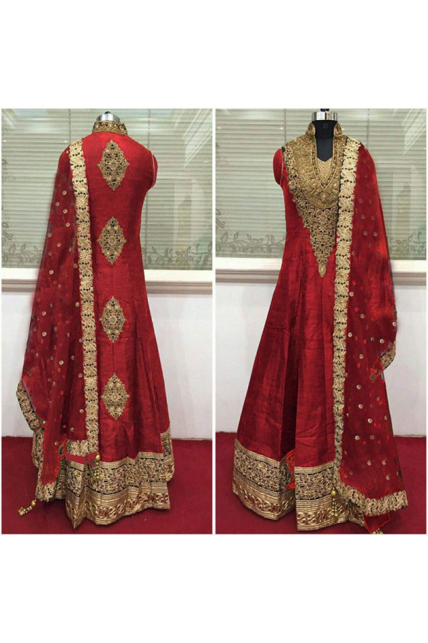 Bollywood Inspired - Wedding Wear Red Anarkali Suit - 9028R