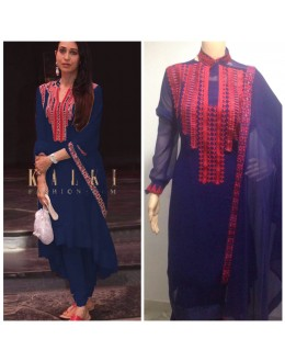 Bollywood Inspired - Karishma  Kapoor In Blue Salwar Suit - K03