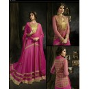 Designer Pink Heavy Embroidered Net Anarkali Palazzo Suit - S-15 ( Ofb-631 )