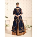 Festival Wear Navy Blue Banglori Silk Lehenga Suit  - 198
