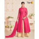 Party Wear Coral Tapeta Silk Lehenga Suit  - 202