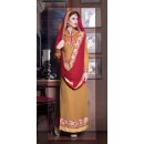 Ethnic Wear Beige & Red Georgette Salwar Suit - 11002
