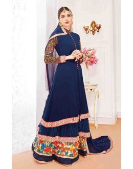 Festival Wear Blue Georgette Salwar Suit With Lehenga - 802
