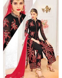 Festival Wear Black Georgette Salwar Suit With Lehenga - 803