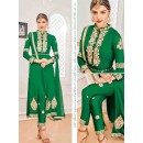 Wedding Wear Green Georgette Salwar Suit With Lehenga - 804