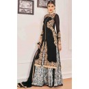 Designer Black Georgette Salwar Suit With Lehenga - 805