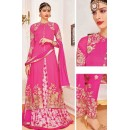 Designer Pink Georgette Salwar Suit With Lehenga - 807