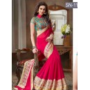 Bollywood Replica - Party Wear Pink Saree - SN-11