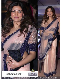 Bollywood Replica - Sushmita Sen In Designer Pink Net Saree - SN-536