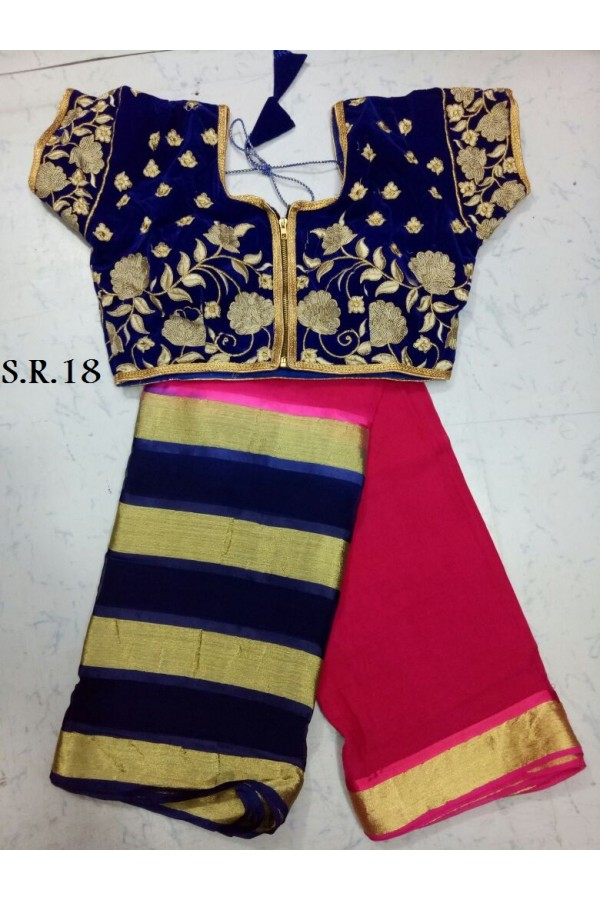 Festival Wear Saree With Fully Stitched Blouse - SR18
