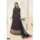 Mouni Roy In Black Banarasi Silk Anarkali Suit  - 12088